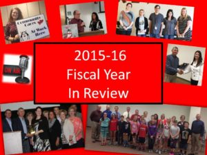 Check out the 2015-16 Fiscal Year End Slide Show by clicking the link above!