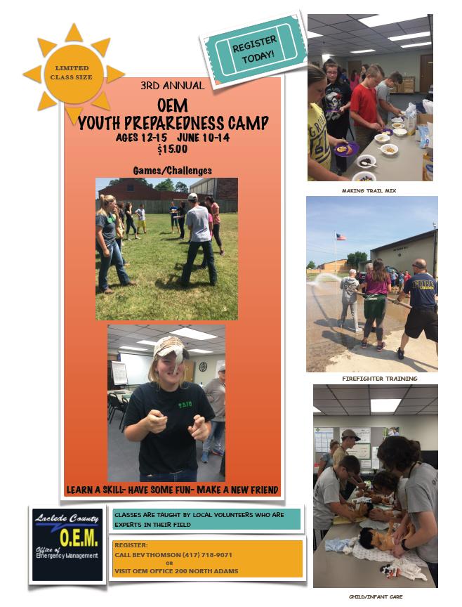 OEM Youth Preparedness Camp – Lebanon Area Foundation / Community Cares